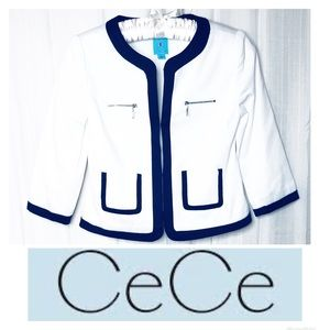 CeCe | White Sailor Dress Blazer Jacket 4